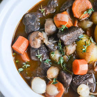 Slow Cooker/Crock Pot Beef Bourguignon