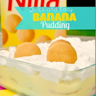 Quick and Easy Banana Pudding.