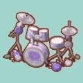 バラのドラムセット(ホワイト)