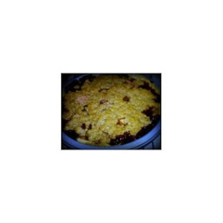 Oatmeal Crumble Cherry-Apple Pie