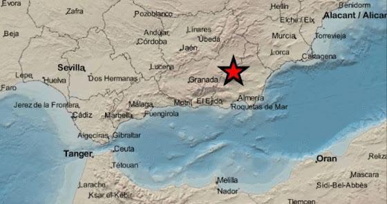 Registrado en el Almanzora un seísmo de magnitud 2,5 sentido en varios pueblos