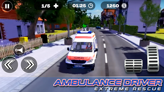 ambulance driver extreme rescue app poster