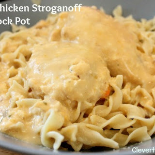 Cheesy Chicken Stroganoff Crock Pot.