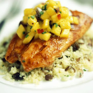 Chicken with Mango Chutney and Couscous.