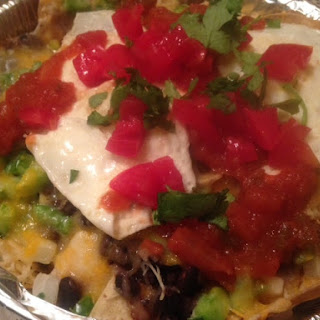 Baked NACHOS with FRIED EGG * breakfast or dinner