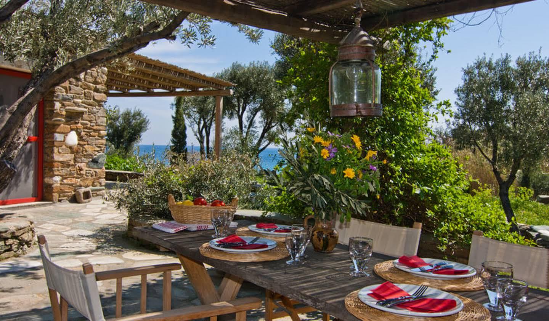 Propriété en bord de mer avec jardin Tinos Regional Unit
