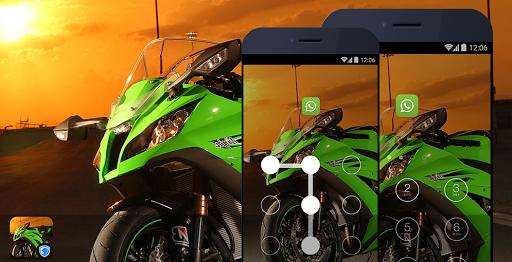 应用锁主题 - 酷炫摩托车