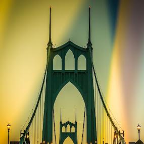 St Johns Bridge by Ivan Johnson - Buildings & Architecture Bridges & Suspended Structures