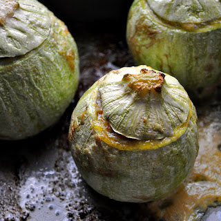 Globe Zucchini Stuffed with Sweet Potato