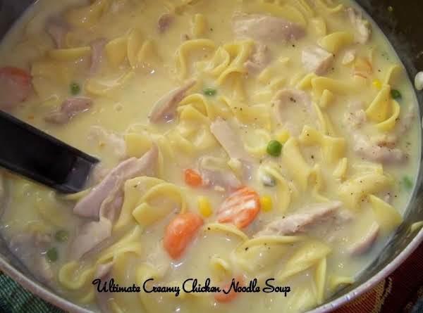 Ultimate Creamy Chicken Noodle Soup - My Way Recipe