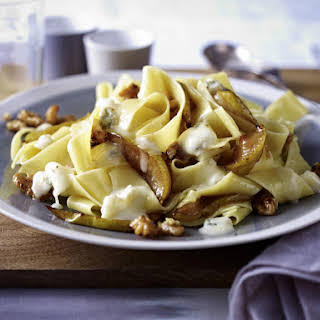 Pear, Walnut And Gorgonzola Pappardelle With Balsamic Reduction.