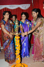 Photo: Lightening of the Lamp by Dr. P. Uma Devi, Convener and Principal - VNIPS