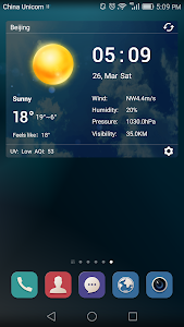 desktop weather clock widget screenshot 2