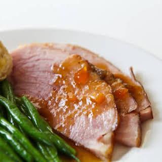 Easter Ham with Mango Ginger Glaze.