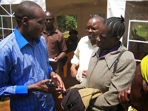 Photo: Meeting the local area Minister of Parliament Hon. Simba Arati