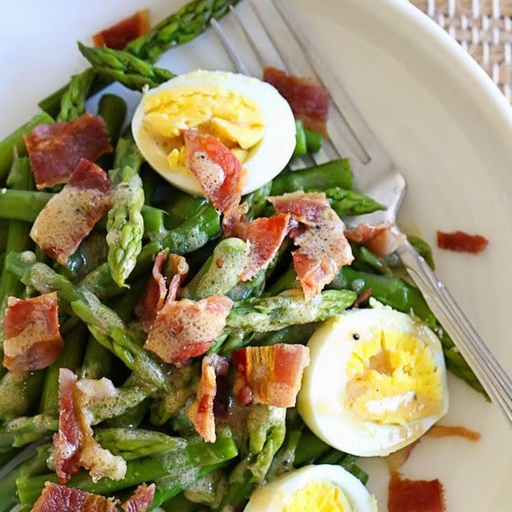 Asparagus Egg and Bacon Salad with Dijon Vinaigrette Recipe | Yummly