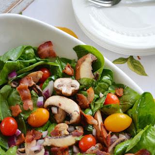 Bacon Mushroom Spinach Salad