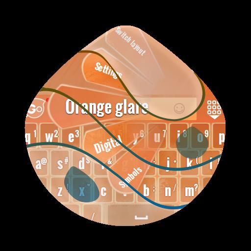个人化のオレンジグレア GO Keyboard LOGO-記事Game