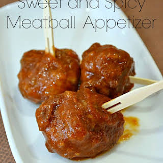 Sweet and Spicy Meat Ball Appetizer.