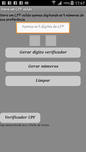Gerador de CPF Lite