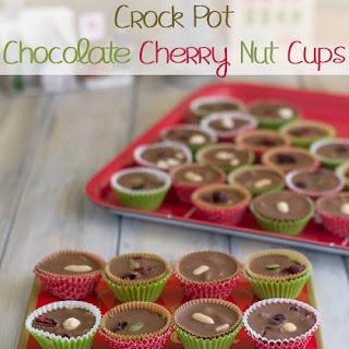 Crock Pot Chocolate Cherry Nut Cups