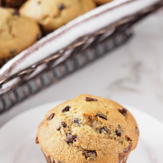 Banana Chocolate Chip Muffins (with whole wheat and quinoa flour)