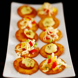 Veg And Non Veg Canapes - Easy Appetiser.