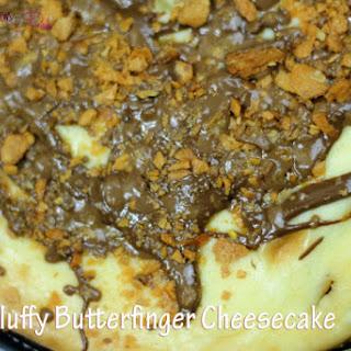 Fluffy Butterfinger Cheesecake