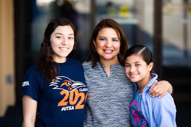 family at University Bowl in San Antonio