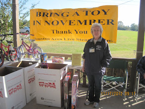 Photo: Letha Grace McCoy, organizer of the HALS Toys for Tots drive.    HALS 2012-1117  David Hannah