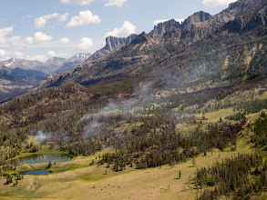Photo: Norton Point Fire; Shoshone NF; WY; 2011; Caldwell Basin