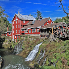 19th Century Treasure by Gary Kaylor - Buildings & Architecture Public & Historical ( waterwheel, historic, gorge, river, mill,  )