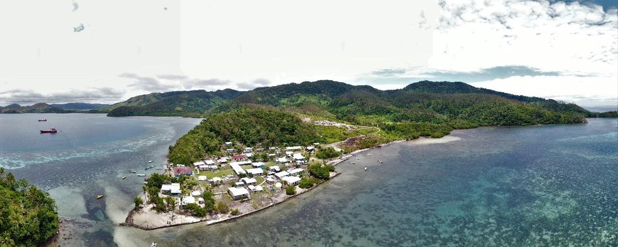 Vue aérienne des îles Fidji