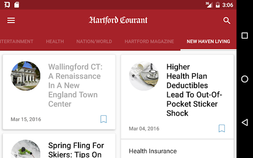 Hartford Courant- screenshot thumbnail