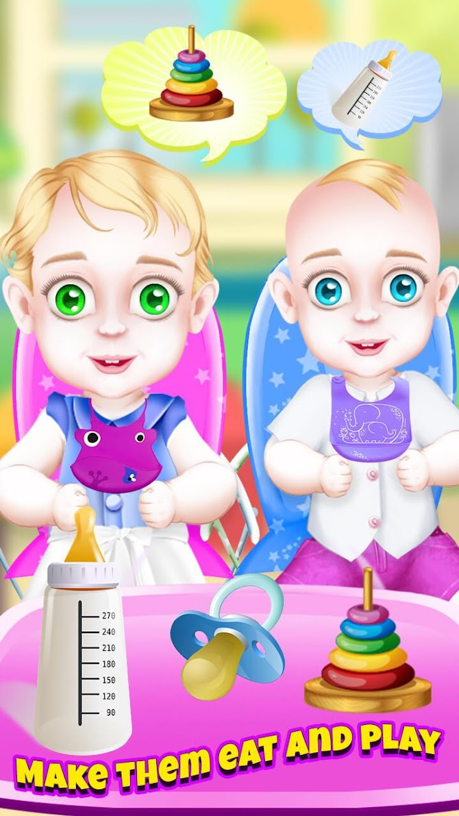 Newborn Twin Baby Pregnant Mommy - Emergency Care Android 12