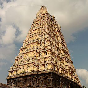 Temple Tower! by Balaji Mohanam - Buildings & Architecture Places of Worship