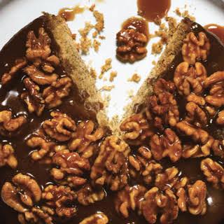 Caramel-Walnut Upside-down Banana Cake.
