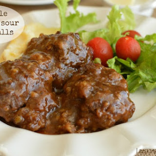 Simple Sweet and Sour Meatballs.