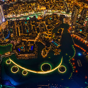Spider Legs, Dubai Fountain by Abbas Mohammed - Buildings & Architecture Office Buildings & Hotels ( love, emirates, night photography, dubai, uae, long exposure,  )
