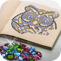 Diamond Number Coloring - Magic Glitter Book