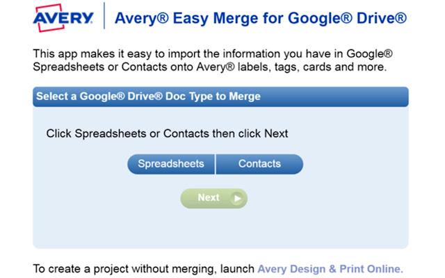 Avery Easy Merge