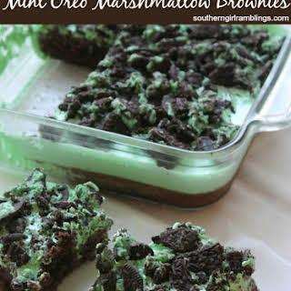 Mint Oreo Marshmallow Brownies.