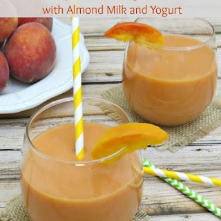 Fresh Peach Smoothie with Almond Milk and Yogurt