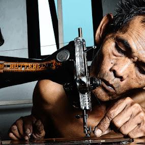 by Alex Kewas - People Portraits of Men ( senior citizen )