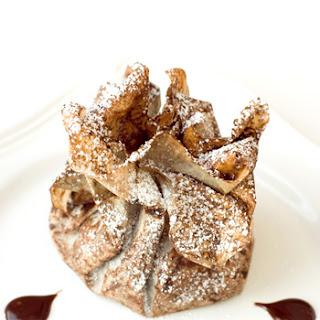 Chocolate Marzipan Stuffed Figs in Chocolate Phyllo Purses