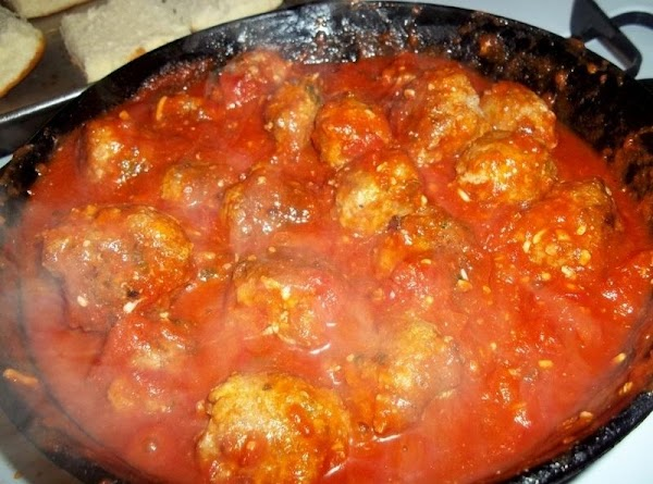 I then wash out the same pan and add marinara or spaghetti sauce to...