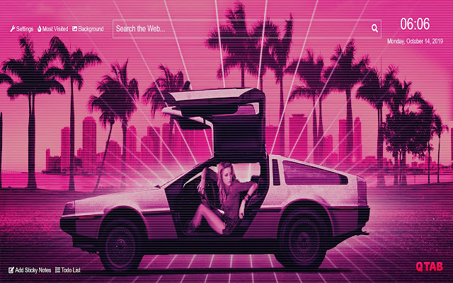 Retro Wave Wallpaper HD New Tab Theme