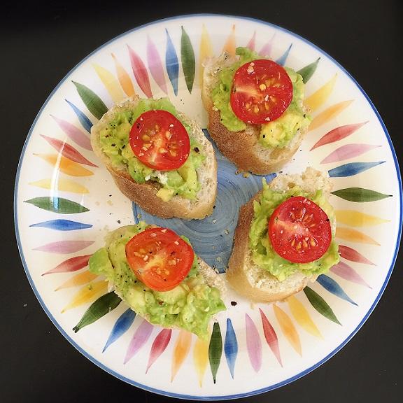 Guacamole Crostini Recipe