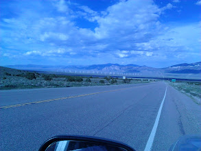 """Photo: Wind power array in Nevada, on the """"scenic route"""" to Las Vegas."""