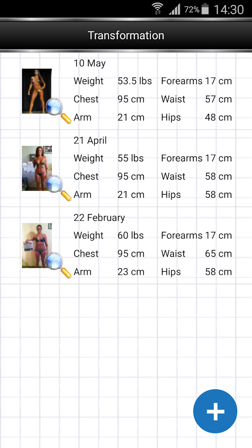 Gym Book: training notebook- screenshot